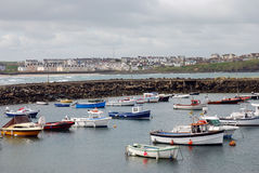 Portrush Harbour Stock Image