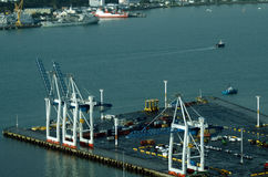 Ports of Auckland in Auckland New Zealand NZ Stock Image