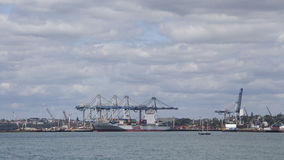 Ports of Auckland, New Zealand Royalty Free Stock Image
