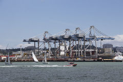 Ports of Auckland, New Zealand Royalty Free Stock Photo