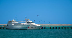 Ports blancs de yacht Image stock