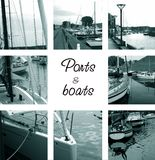 Ports and boats Stock Images