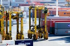 Ports d'Auckland photographie stock libre de droits