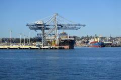 Ports d'Auckland Nouvelle-Zélande image libre de droits