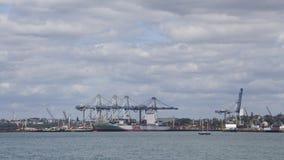 Ports d'Auckland, Nouvelle-Zélande image libre de droits