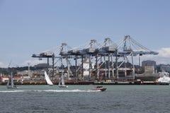 Ports d'Auckland, Nouvelle-Zélande photo libre de droits