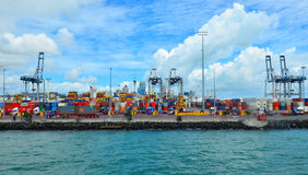 Ports d'Aucland - le Nouvelle-Zélande Photo stock