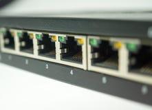 Ports d'un commutateur image stock