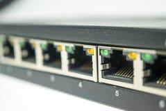 Ports d'une technologie de réseau de commutateur photos libres de droits