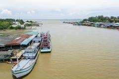 Ports dans le golfe de Thaïlande photo libre de droits