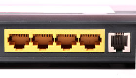 Ports de modem image libre de droits