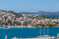 Ports in Dubrovnik in the Summer Royalty Free Stock Photo