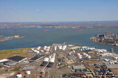 Ports maritimes d'antenne du fleuve Hudson Image libre de droits