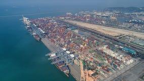 Ports maritimes de paysage le temps de jour, photos libres de droits