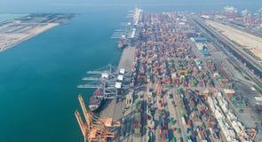 Ports maritimes de paysage le temps de jour, photo stock