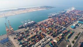 Ports maritimes de paysage le temps de jour, image libre de droits