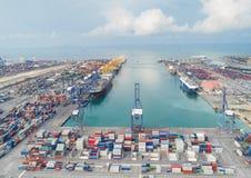 Ports maritimes de paysage le temps de jour, image stock