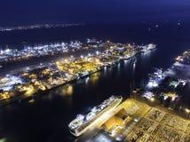 Ports maritimes de paysage le temps de jour, photos stock