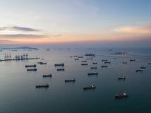 Ports maritimes de paysage le temps de jour photographie stock