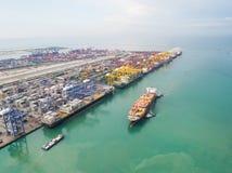 Ports maritimes de paysage le temps de jour image libre de droits