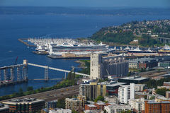 Ports maritimes de Seattle Photo libre de droits