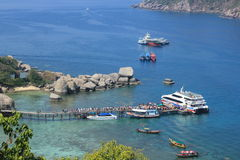 Ports at Nangyuan Island. April 8, 2014 Tourist attractions on White Sand Beach at Koh Nangyuan Surat Thani, Thailand stock images
