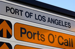 Ports o'call. The los angeles ports o'call sign Royalty Free Stock Photos