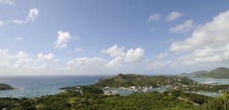 Ports sur l'Antigua image stock