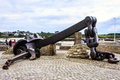 Portsall, Finistère, Bretagne, Frankrijk Royalty-vrije Stock Foto's