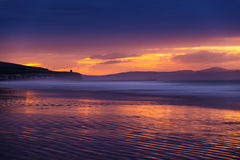 Portsewart, Co. Derry. Portstewart strand just after sunset Royalty Free Stock Photography