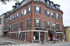 Portsmouth, el 30 de junio: Edificio histórico de Portsmouth céntrica en New Hampshire de los E.E.U.U. Imagenes de archivo