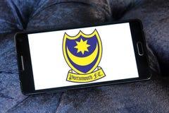 Portsmouth F C Logo del club di calcio Fotografia Stock