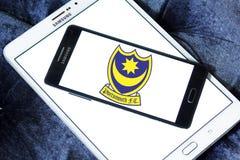 Portsmouth F C Logo del club di calcio Fotografia Stock Libera da Diritti