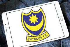 Portsmouth F C Logotipo do clube do futebol Fotografia de Stock Royalty Free