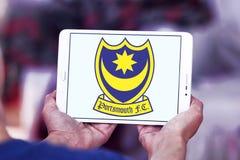 Portsmouth F C Logotipo do clube do futebol Imagem de Stock