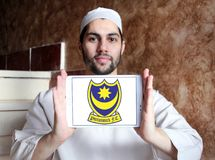 Portsmouth F C Logotipo do clube do futebol Foto de Stock Royalty Free