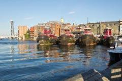 Portsmouth gammal hamn Arkivbild