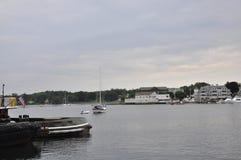 Portsmouth 30 giugno: Vecchio porto dalla città di Portsmouth in New Hampshire di U.S.A. Fotografia Stock Libera da Diritti