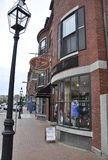 Portsmouth 30 giugno: Vista storica della via dalla città di Portsmouth in New Hampshire di U.S.A. Immagini Stock Libere da Diritti