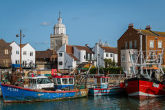 Portsmouth hamn England Arkivbilder