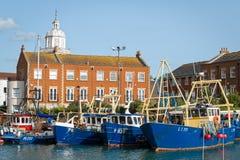 Portsmouth hamn England Arkivbild