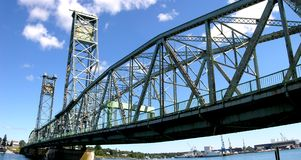 Portsmouth Harbor. Cantilever bridge over Portsmouth Harbor, Portsmouth, New Hampshire royalty free stock photos