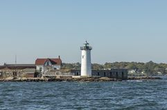 Portsmouth Harbor Lighthouse and Fort Constitution State Histori Royalty Free Stock Photo