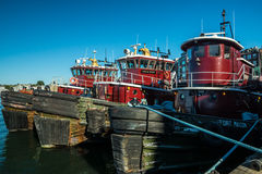 Portsmouth Harbor Tugboats Stock Images