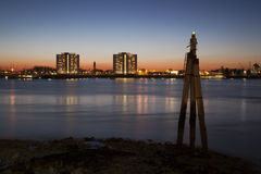 Portsmouth Harbour at night Royalty Free Stock Photo