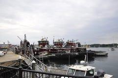 Portsmouth, il 30 giugno: Vecchio porto di Portsmouth da New Hampshire di U.S.A. Fotografia Stock
