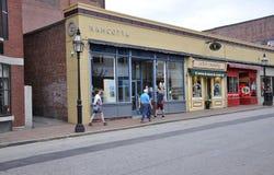Portsmouth, le 30 juin : Rue historique de Portsmouth du centre dans New Hampshire des Etats-Unis Photos libres de droits