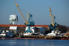 Portsmouth-Marinewerft lizenzfreie stockfotografie