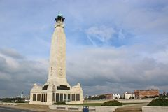 Portsmouth Naval Memorial. On Southsea seafront Royalty Free Stock Photos