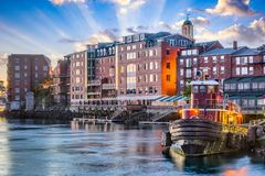 Portsmouth, New Hampshire. USA town cityscape stock photography